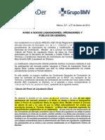 20140227 AVISO Derivados Modificacion Calculo de Precio de Liquidacion Diaria Impugnacion Para Comentarios