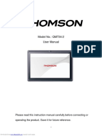 Thomson QM734 Tablet User Manual