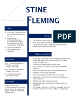 christine fleming resume sept 2016