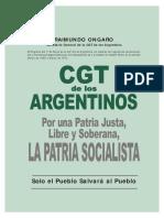ONGARO, RAIMUNDO - Programa Del 1º de Mayo CGT de Los Argentinos
