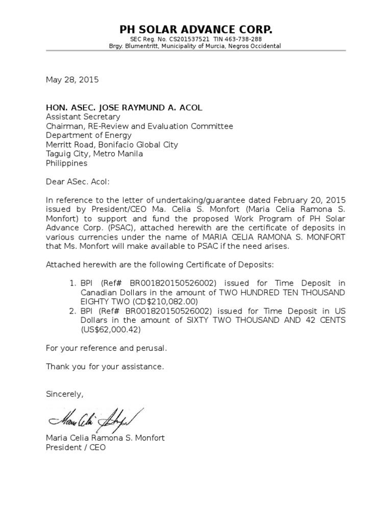 Letter of undertaking psac thecheapjerseys Choice Image