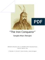Personality Analysis of Genghis Khan