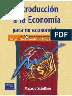 Libro Schettino Introduccion a La Economiìa Para No Ecnonomistas