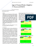Reliability Design of Source/Drain Adaptive Layers in an HV Power nLDMOS
