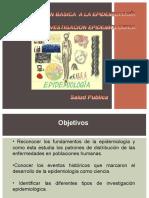 Historia Epidemiologia y Tipos de Investigacion2016