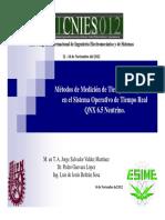 Métodos de Medición de Tiempos de Ejecución en el Sistema Operativo de Tiempo Real QNX 6.5 Neutrino