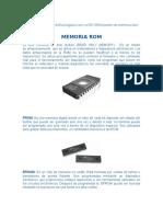 Memoria ROM y RAM