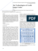 A Research on the Technologies of Credit Bank Data Exchange Center