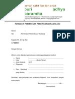 Form Permintaan Radiologi