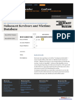 604. Three as Holocaust Survivors and Victims Database Confiscated Possession