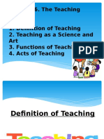 The Teaching Process