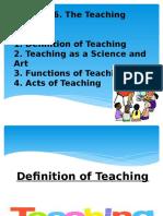 The Teaching Process