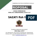 Proposal Usaha Pembenihan Ikan Lele Sangkuriang Sazati Baru Hanya Rw