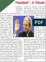 'People's President' a Tribute APJ Abdul Kalam