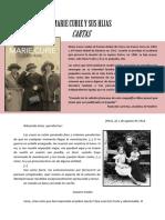 Cartas Madame Curie