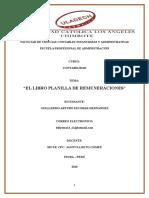 El Libro Planilla de Remuneraciones