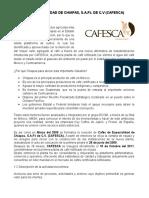 Cafés de Especialidad de Chiapas