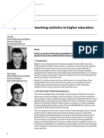 Using Minitab for Teaching Statistics in Higher Education