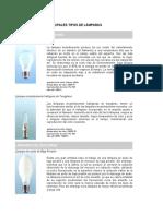 Principales Tipos de Lámparas