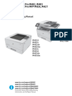 manual del usuario HP LaserJet Pro M402 M403 M426 M427 Troubleshooting Manual