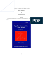 Summary Applied Econometric Time Series