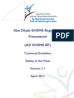 Abu Dhabi Emirate Environment, Health & Safety Management System Technical Guideline - Safety in Heat (V2.1) 2013