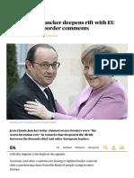 Jean-Claude Juncker Deepens Rift With EU Leaders After Border Comments _ Politics _ News _ London Evening Standard