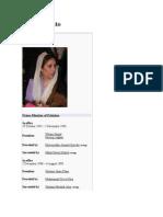 Benazir Bhutto's wikipedia