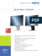 Nec Multisync Lcd2070nx