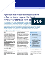Agribusiness Supply Contracts and Unfair Contracts Regime_It's Time to Review Your Standard Form Contracts