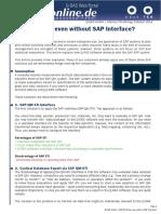 SAP Without SAP Interface