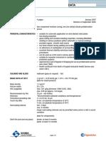 Sigmaweld 199 Technical Data Sheet