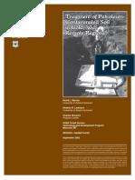 Treatment of Petroleum Contaminated Soil
