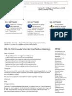 CM-PE-709 Procedure for Bid Clarification Meetings