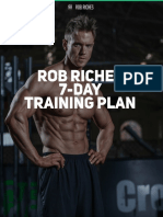 Rob Riches 7 Day Training Plan