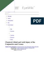 Chemical Trauma AAO