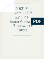 LDR 531 Final Exam - LDR 531 Final Exam Answers - Transweb E Tutors
