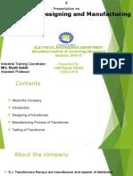 Transformer Manufacturing and Designing
