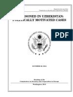 SENATE HEARING, 113TH CONGRESS - Imprisoned in Uzbekistan – Politically Motivated Cases