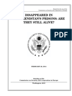 SENATE HEARING, 113TH CONGRESS - DISAPPEARED IN TURKMENISTAN'S PRISONS
