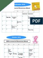 events calendar  1