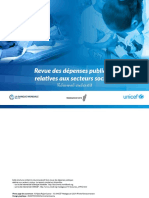 BANQUE MONDIALE – UNICEF, Revue des dépenses publiques relatives aux secteurs sociaux (résumé exécutif), Madagascar
