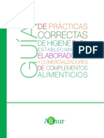 Guiaa de Prácticas Correctas Para Higiene de Establecimientos Elaboradores y Comercializadores de Complementos Alimenticios