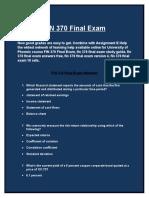 UOP FIN 370 Final Exam  | Assignment E Help