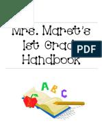 1st grade handbook