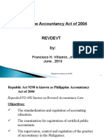 -Accountancy Act of 2004 Revised