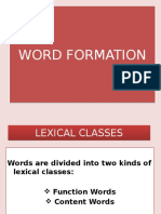 Word Formation - 1