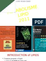 Metabolism of Lipid 2011