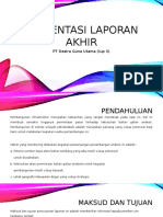 Presentasi laporan akhir