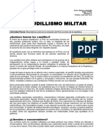 Ficha Caudillismo Militar